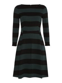 Ellisse long sleeve stripe dress