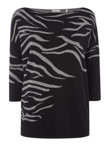 Marella Oversized animal print jumper