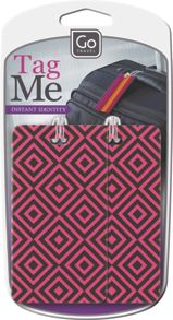 Travel tag me (patterned)