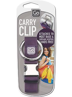 Travel carry clip, assorted colours