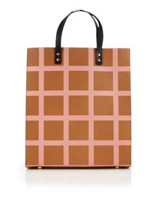 Orla Kiely Printed check multi crossbody bag