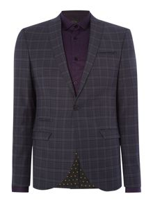 Label Lab Benet SB1 Peak Lapel Check Suit Jacket