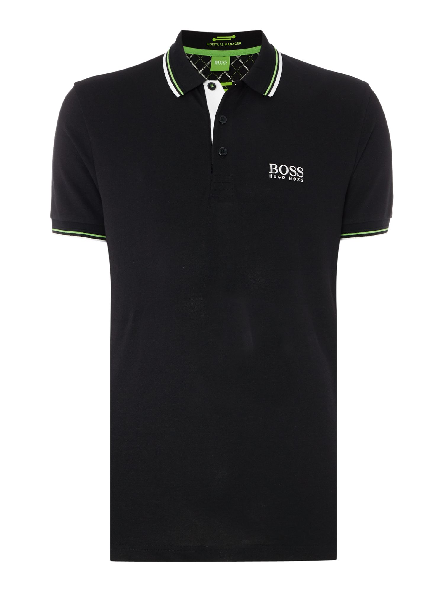 Mens Hugo Boss Golf logo polo shirt Black