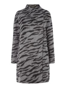 Marella Trinity animal print coat