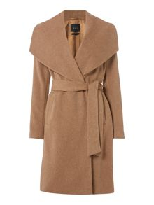 Oui Wrap wool coat