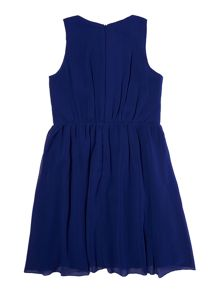 Little Misdress Girls sleeveless dress with waist embellishment