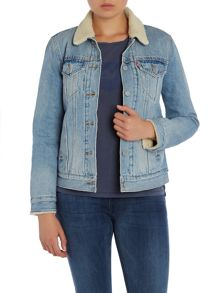 Sherpa boyfriend trucker jacket in river bank