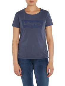 Levi's Short sleeve perfect logo tee in peacoat