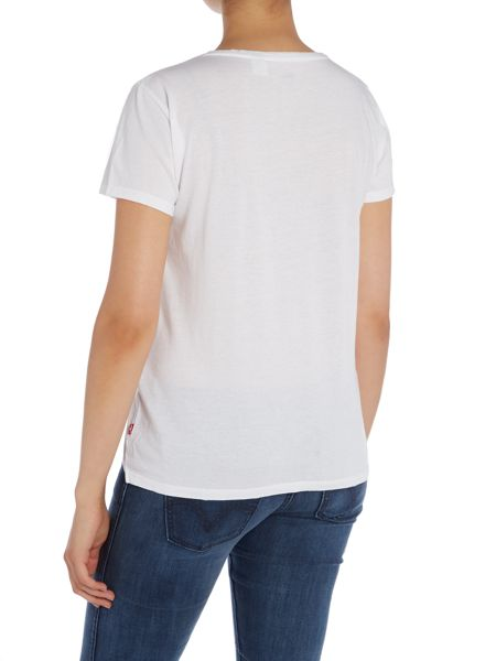 Levi's Short sleeve perfect logo tee in bright white