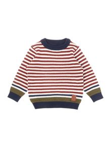 Boys Striped crew neck jumper