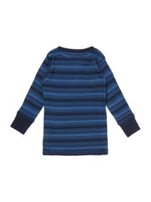 Boys Striped henley neck long sleeved top