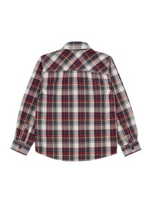 name it Boys Multi check long sleeved shirt
