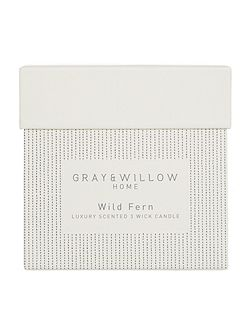 Wild fern luxury 3 wick candle