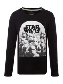 Boys Storm trooper graphic long sleeved top