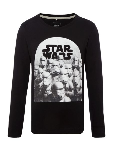 name it Boys Storm trooper graphic long sleeved top