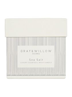 Sea salt luxury 3 wick scented candle