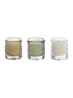 Set of 3 luxury scented votive candles