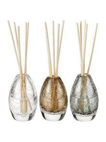 Set of 3 luxury scented reed diffusers