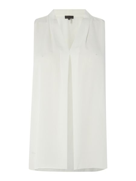 Vince Camuto Sleeveless blouse with inverted pleat detail