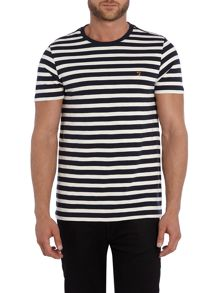 Radway regular fit striped crew neck t shirt