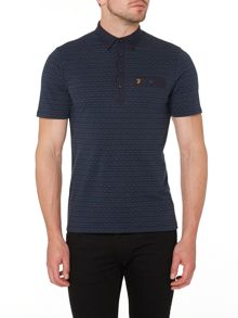 Balcombe regular fit jacquard polo shirt