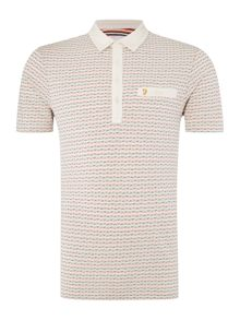 Farah Balcombe regular fit jacquard polo shirt