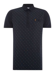 Ebendon regular fit spot print polo shirt