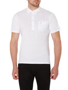 Farah Ebendon regular fit spot print polo shirt