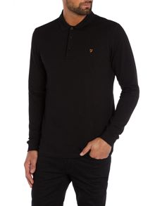 Blaney regular fit long sleeve polo shirt