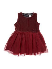 Girls Velvet with tulle dress