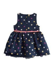 name it Girls sleeveless dress with glitter dots detail