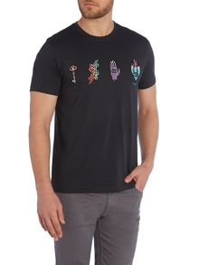 Regular Fit Assorted Icons T Shirt
