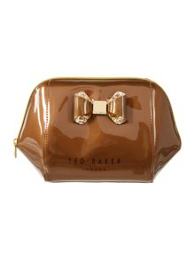 Nolly gold large bow cosmetic bag