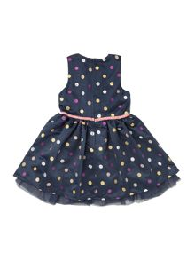 name it Girls Glitter spot dress with belt