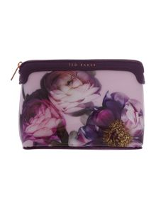 Pink small floral cosmetic bag