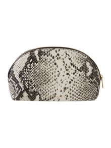 Jaine black snake small bow cosmetic bag