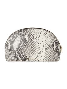 Ted Baker Jenel black large snake cosmetic bag