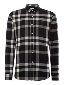 Farah Chapel regular fit large check shirt