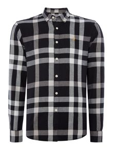 Chapel regular fit large check shirt