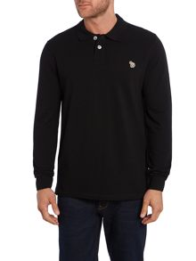 Zebra Long Sleeve Logo Polo