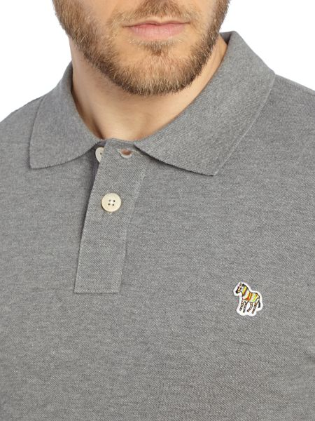 Paul Smith Jeans Zebra Long Sleeve Logo Polo