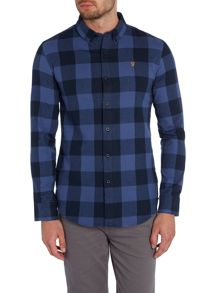 Irthing regular fit large check shirt