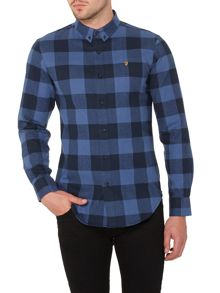 Farah Irthing regular fit large check shirt