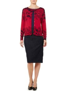 Linea Placement floral print cardigan