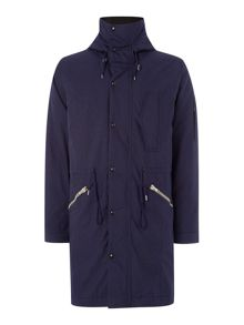 Paul Smith Jeans Down Filled Fishtail Zip Up Parka