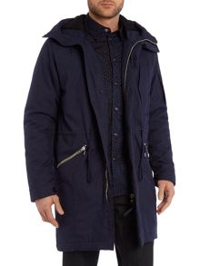 Down Filled Fishtail Zip Up Parka