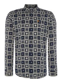Farah Gelt regular fit square printed shirt