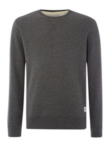 Crew neck melange jumper