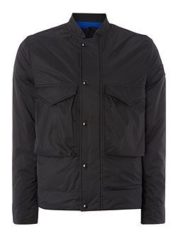 Two Pocket Zip Up Bomber Jacket