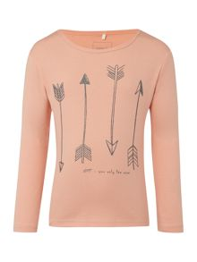name it Girls Arrow graphic long sleeved top